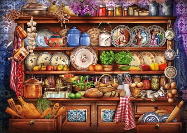 Mums Kitchen Dresser - 1000pc jigsaw puzzle