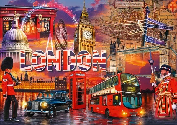 The Sights of London - 1000pc jigsaw puzzle