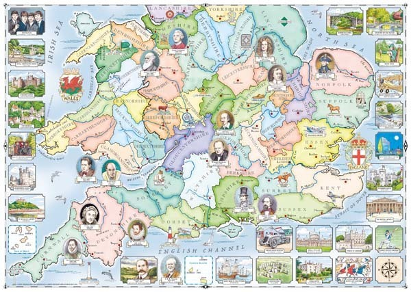 Our Native Lands No1 - South and Midlands - 1000pc jigsaw puzzle