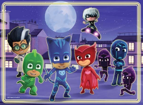 Pj Masks Glow In The Dark Floor Puzzle 60pc Jigsaw