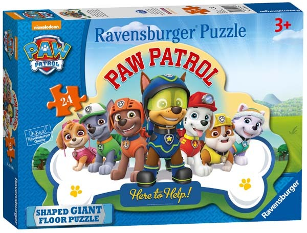 Paw Patrol Shaped Floor Puzzle 24pc Jigsaw Puzzle From