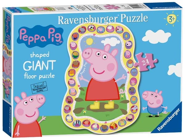Peppa Pig Shaped Floor Puzzle - 24pc jigsaw puzzle