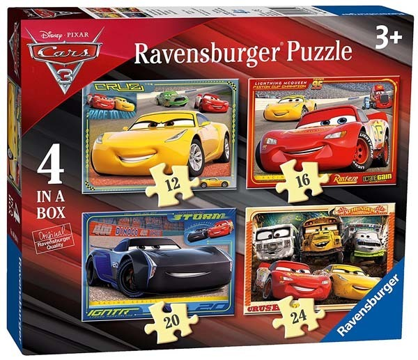 Cars 3 - 4 in 1 jigsaw puzzle