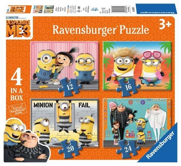 Despicable Me 3 - 4 in 1 jigsaw puzzle