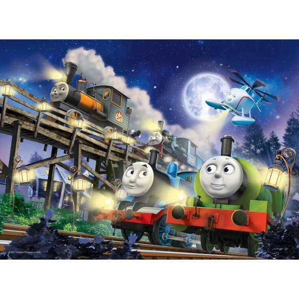 Thomas the Tank Engine - Glow in the dark - 60pc jigsaw puzzle