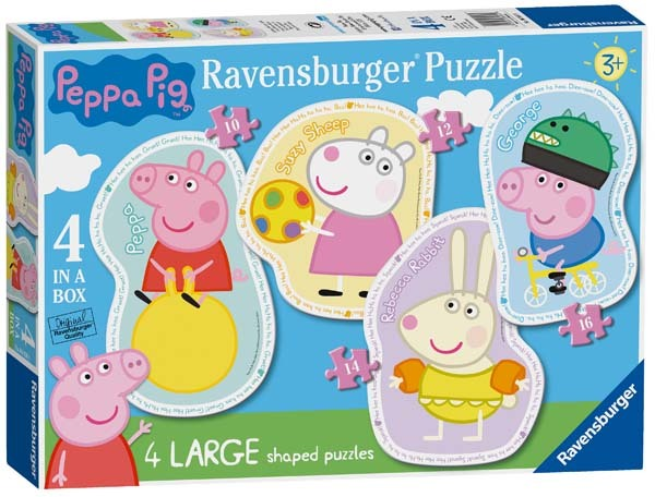 Peppa Pig - Four Large Shaped Puzzles jigsaw puzzle