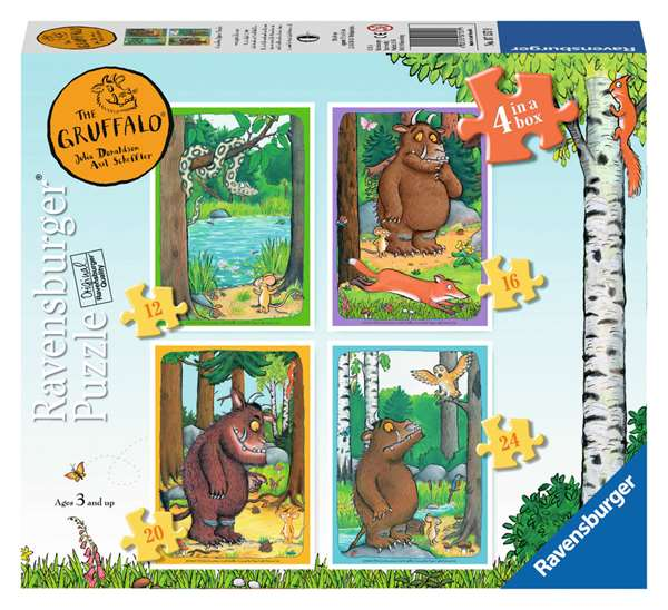 The Gruffalo - 4 In 1 jigsaw puzzle