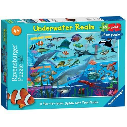 Underwater Realm 60 Piece Floor Puzzle Jigsaw Puzzle