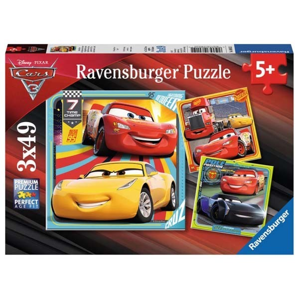 Cars 3 - 3 x 49 piece jigsaw puzzle