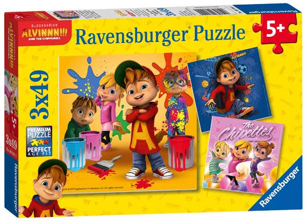 Alvin and the Chipmunks - 3 x 49pc jigsaw puzzle