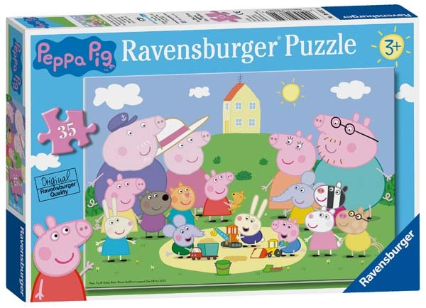 Peppa Pig - Fun in the Snow - 35pc jigsaw puzzle