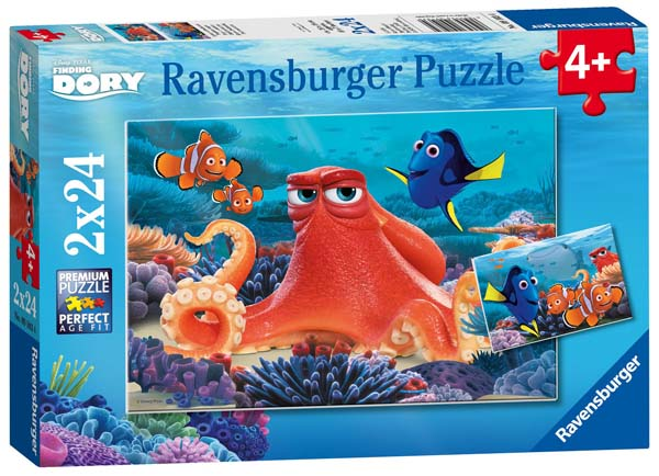 Finding Dory - 2 x 12 piece jigsaw puzzle