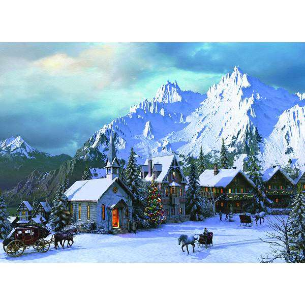 Rocky Mountain Christmas Jigsaw Puzzle From Jigsaw Puzzles