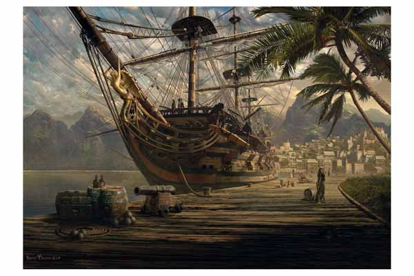 Ship at Anchor - 1000pc jigsaw puzzle