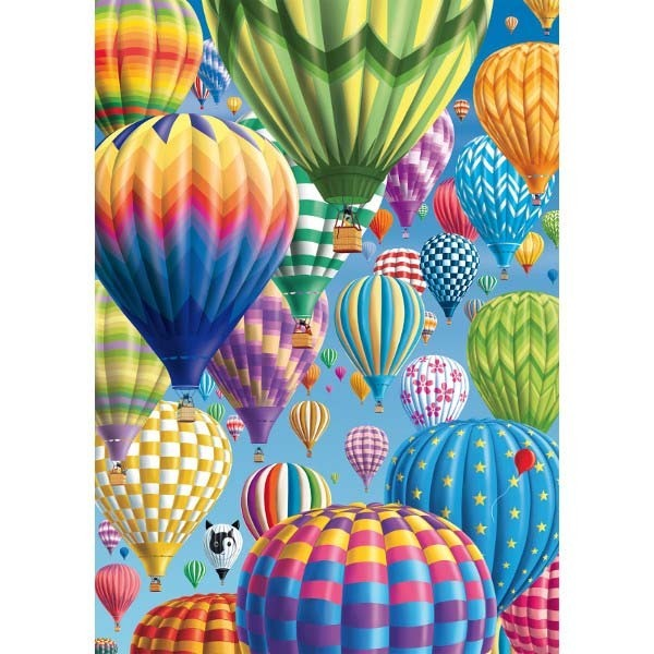 Colourful Balloons in the Sky - 1000pc jigsaw puzzle