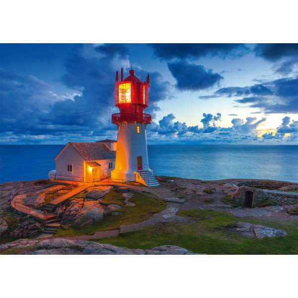 Lighthouse at Dusk - 1000pc jigsaw puzzle