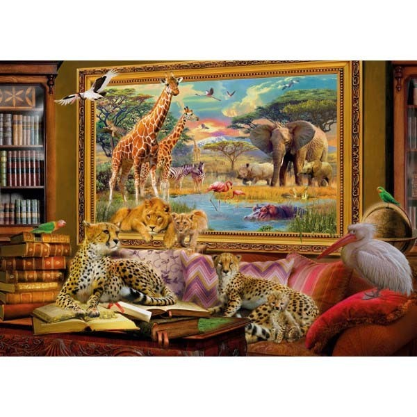 The Savannah Comes to Life - 1000pc jigsaw puzzle