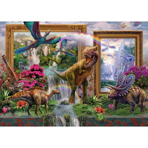 Dinosaurs Come to Life - 1000pc jigsaw puzzle