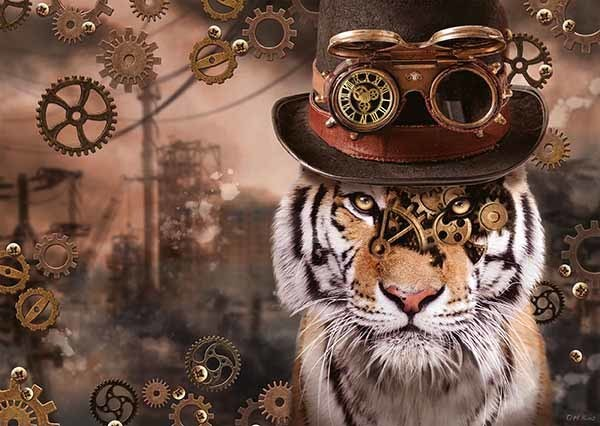 Steampunk Tiger - 1000pc jigsaw puzzle