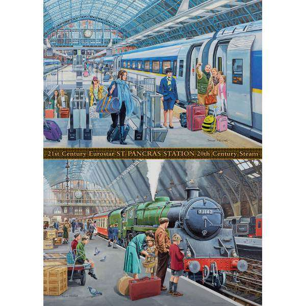 St Pancras - Now and Then - 1000pc jigsaw puzzle