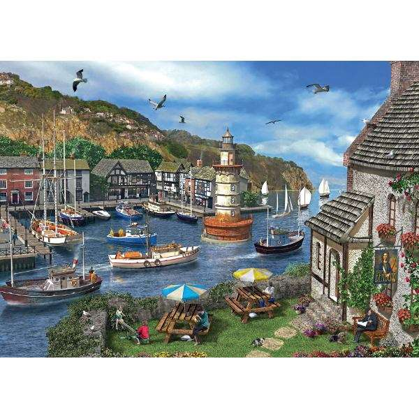 Summertime Harbour jigsaw puzzle