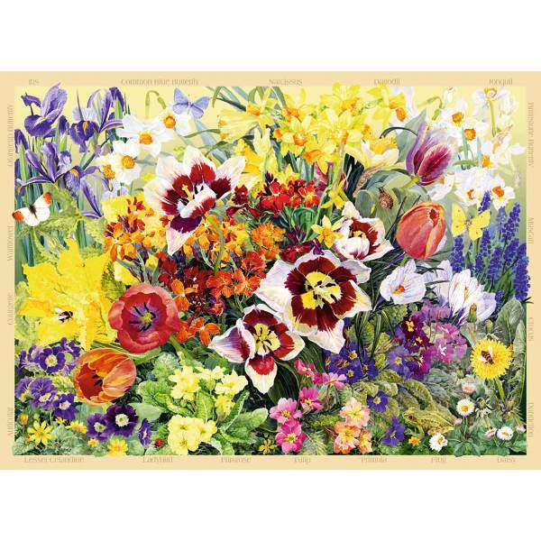 The Cottage Garden, Spring - 500pc jigsaw puzzle