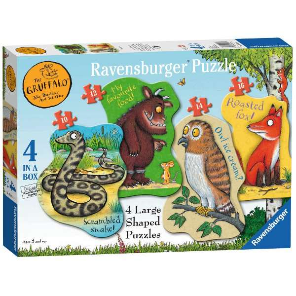 The Gruffalo - 4 in 1 Shaped Puzzles jigsaw puzzle