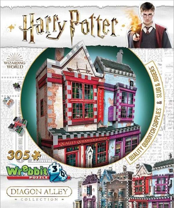 Wrebbit - Harry Potter - Quidditch Supplies and Slug and Jiggers - 305pc jigsaw puzzle