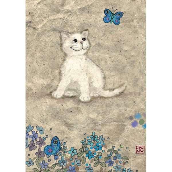 White Kitty - 500pc jigsaw puzzle