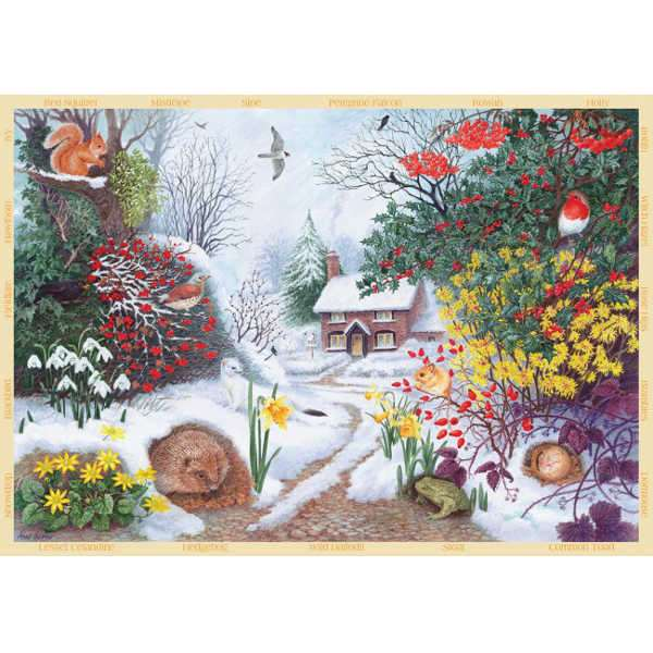 Winter Hedgerow - 500pc jigsaw puzzle