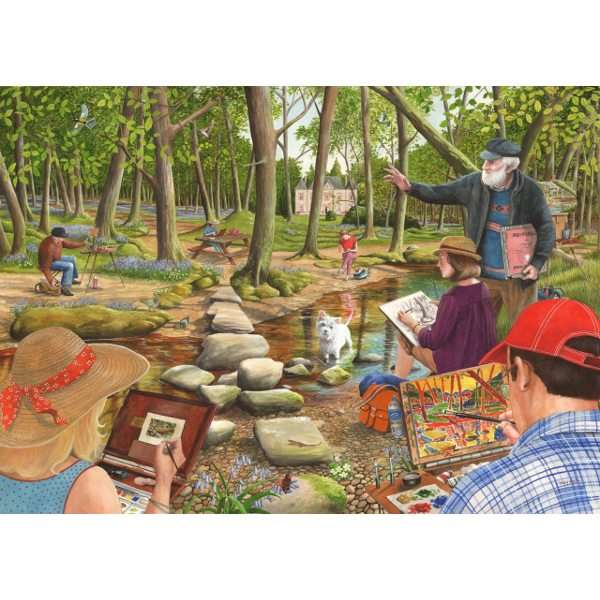 Learn to Paint - Big 500pc jigsaw puzzle