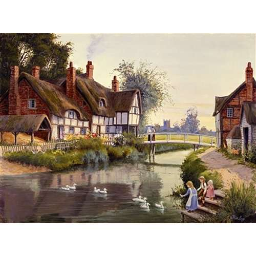 The Village Pond jigsaw puzzle