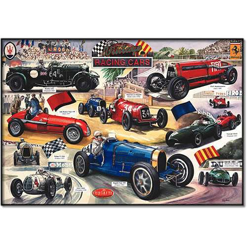 Vintage Racing Cars jigsaw puzzle
