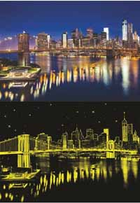 Brooklyn Bridge - Glow in the Dark - 1000pc