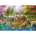 Spring Wolf Family - 1500pc