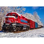 Red Train in the Snow - 1500pc