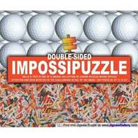 impossible double sided puzzle � golf balls & tees