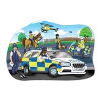 Big Police Car - Shaped Puzzle