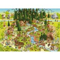 Funky Zoo - Black Forest Habitat - 1000pc