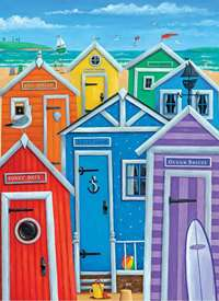Rainbow Beach Huts - 1000pc