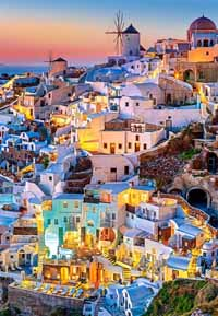 Santorini Lights - 1000pc