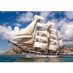 Tall Ship Leaving Harbour - 500pc