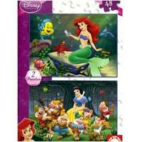 Disney - The little Mermaid and Snow White - 2x48pc