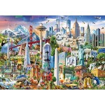 North American Landmarks - 1500pc