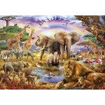 Watering Hole Under the Rainbow - 3000pc