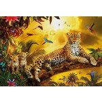Leopard and His Cubs - 500pc