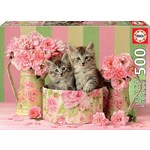 Kittens with Roses - 500pc