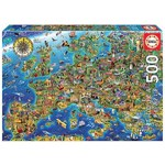 Crazy European Map - 500pc
