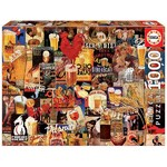 Vintage Beer Posters Collage - 1000pc