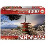 Mount Fuji and Chureito Pagoda - Japan - Panoramic - 3000pc